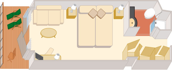 Croisiere de Luxe cunard qv croisieres exterieure balcon a