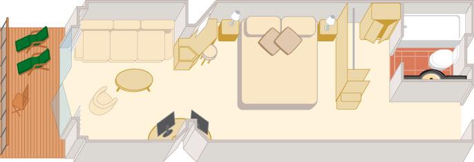Croisiere de Luxe cunard qv croisieres mini suite p1 p2 p3 p4
