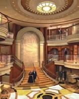 Croisiere de Luxe Cunard Croisiere 2012 espace public lobby