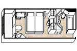 Cabine FenetreRegent Cruceros Chambre